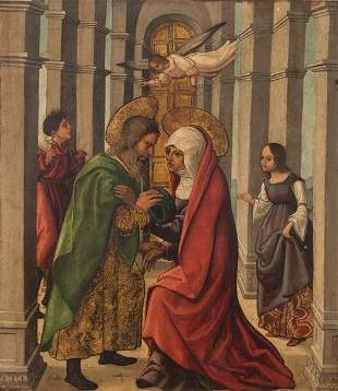 CASTILIAN SCHOOL 16 th century- St. Joachim Visiting