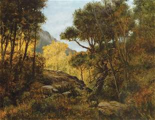 SPANISH SCHOOL 20th Century  Landscape Oil on canvas