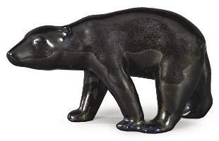 Glazed ceramic bear figure by Josep Serra i Abella