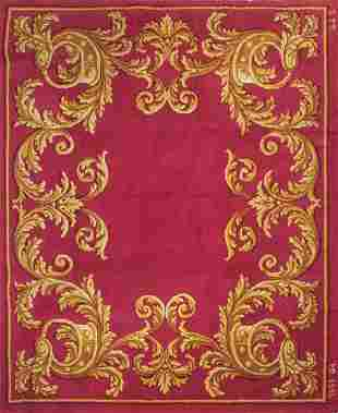 Spanish wool rug from the Royal Tapestry Factory signed