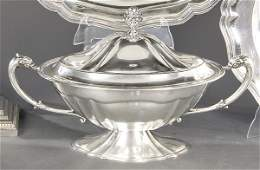 Spanish silver tureen punched 1st Law of Montejo.