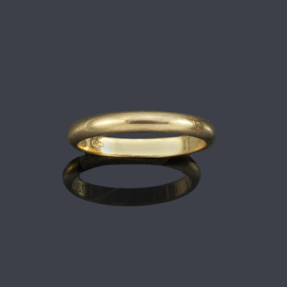 CARTIER 18K yellow gold wedding ring. Signed, with