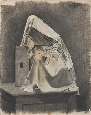 SPANISH SCHOOL. 19th - 20th century - Study of covered