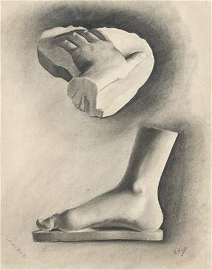 EUROPEAN SCHOOL 19th century - Study of foot and hand