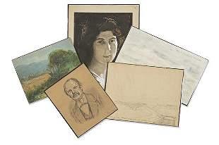 JOSÉ BARDASANO Y OTROS - Lot of 4 drawings