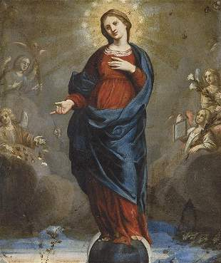 FLEMISH SCHOOL. 17th century- Immaculate Conception
