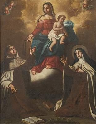 SPANISH SCHOOL end of 17th century - Virgin of the