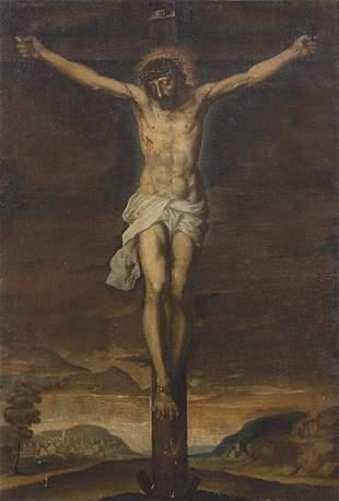 GRANADINE SCHOOL 18th century - Crucified