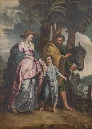 FLEMISH SCHOOL 17th century - Flight to Egypt