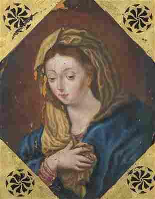 SPANISH SCHOOL 18th century - Virgin in prayer