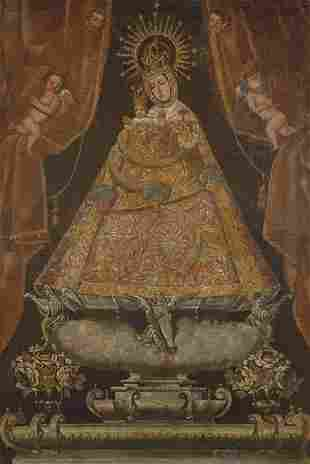 SPANISH SCHOOL End of 17th century - Virgin of