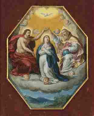 FLEMISH SCHOOL 17th century - Coronation of the Virgin