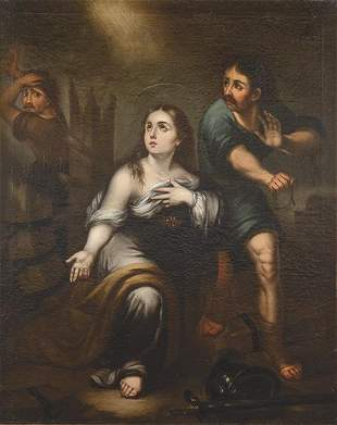 ATTRIBUTED TO JOSÉ GUTIERREZ DE LA VEGA - . Saint