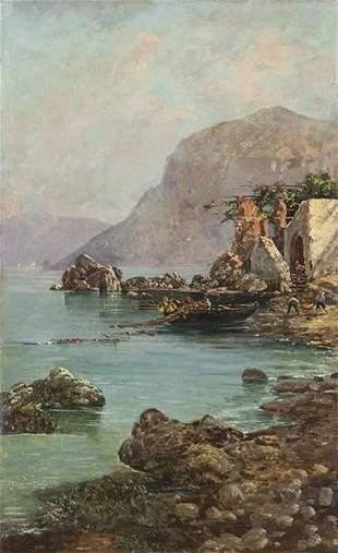 ITALIAN SCHOOL beginning of 19th century - Fishermen of