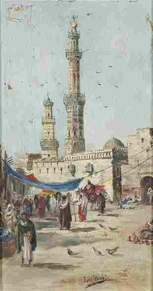 SPANISH SCHOOL19th century - Arab souk