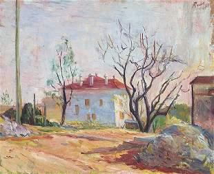 JUAN ANTONIO RODA - Landscape with houses