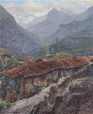 ELÍAS GARRALDA - Landscape of Lebeña (V. de