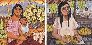 PACO GOROSPE - Mother & Child and Mango Verdor