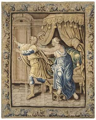 José y la mujer de Potifar flamenco tapestry in