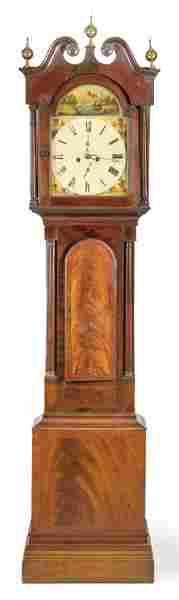 High regency case watch in mahogany wood and mahogany