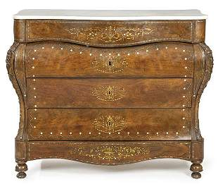 Elizabethan chest of drawers with sinuous profile in