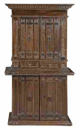 Sideboard with two sections, with doors and two drawers
