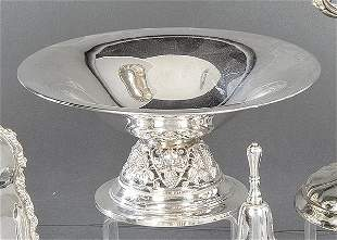 Spanish silver punched fruit bowl. With openwork base