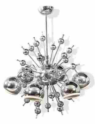 Sputnik-type ceiling eyeball lamp with six circular and