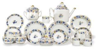 China for the Export porcelain coffee set, cobalt blue