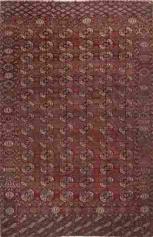 Turkmen rug, Bukara in wool and silk, Turkmenistan.