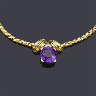 VACHERON CONSTANTIN Necklace with central amethyst