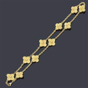 VAN CLEEF & ARPELS Necklace from the 'Alhambra'