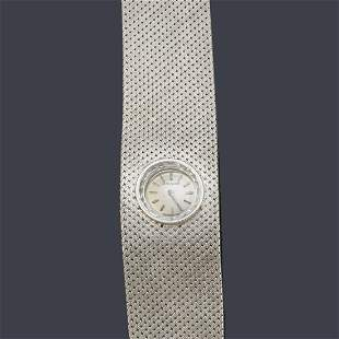 MOVADO for women with 18K white gold case and bracelet