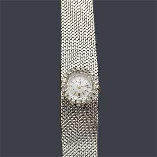LONGINES for women with 18 K white gold case and