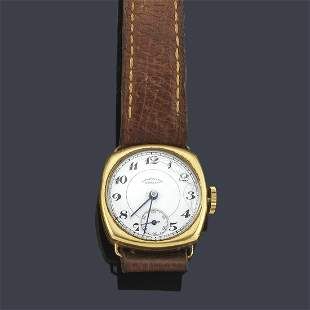 Men's MOVADO with 18K yellow gold case, 1930s. White