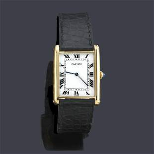 CARTIER Tank GM for men with 18K yellow gold case
