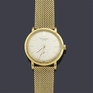 Men's PATEK PHILIPPE with 18K yellow gold case and