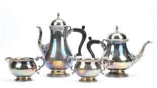 4 piece SilverPlated MappinWebb Tea Set20th C