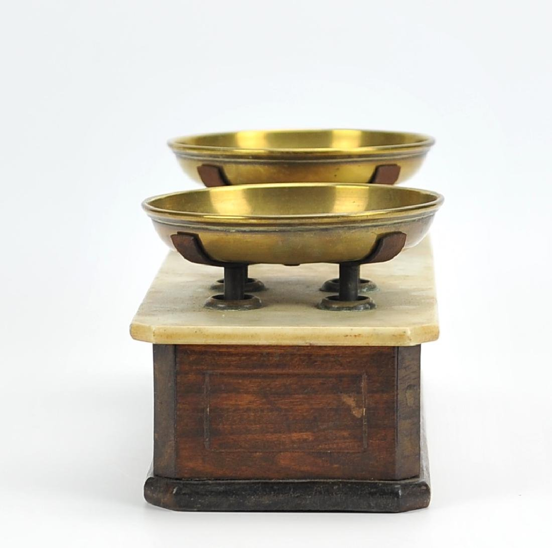 Antique Brass,Marble&Wooden Scale ,English 1870 - 2