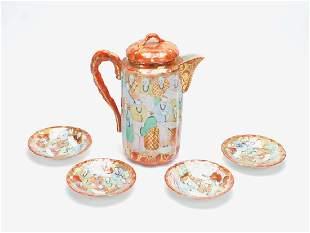 Japanese Antique Kutani Porcelain Tea Sets9