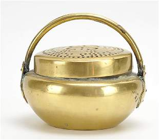 Chinese Brass Hand Warmer 20th C