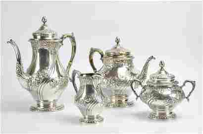 Reed & Barton 4 Pc Sterling Tea & Coffee Service