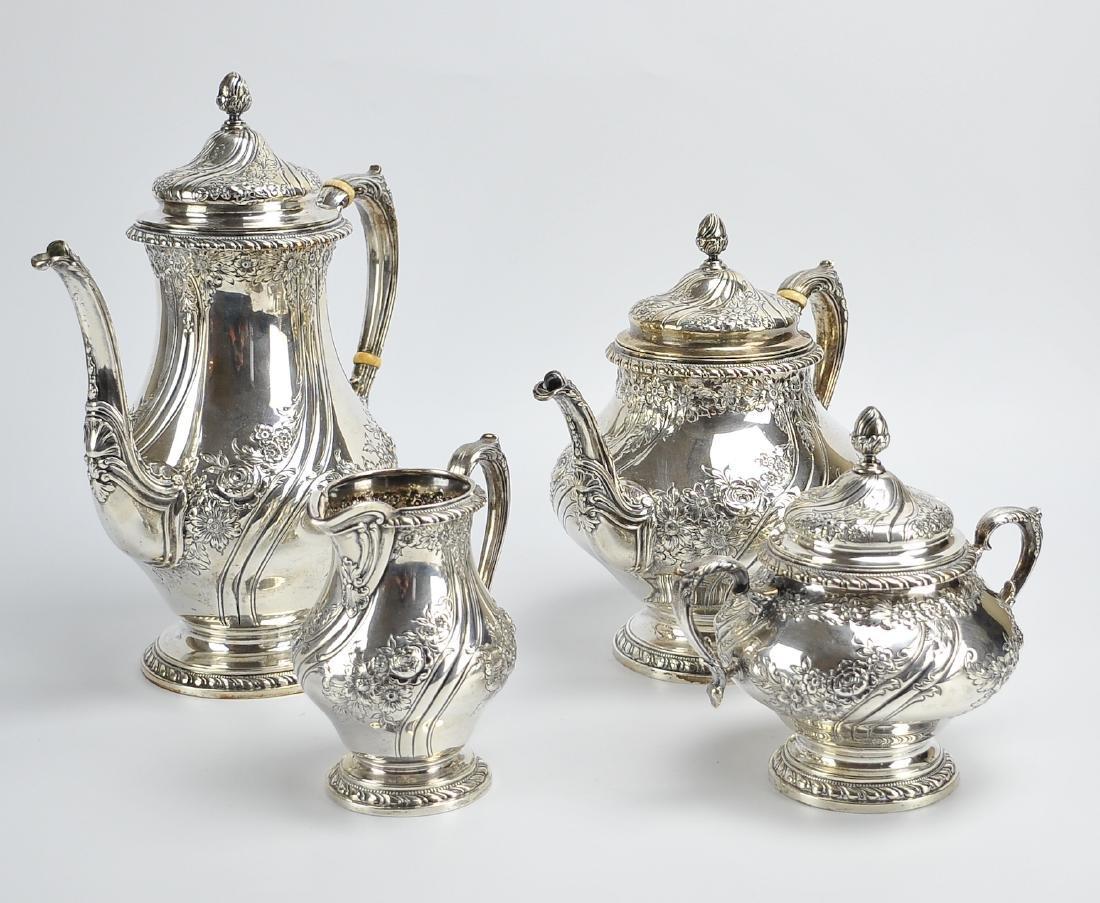 Reed & Barton 4 Pc Sterling Tea & Coffee Service - 4