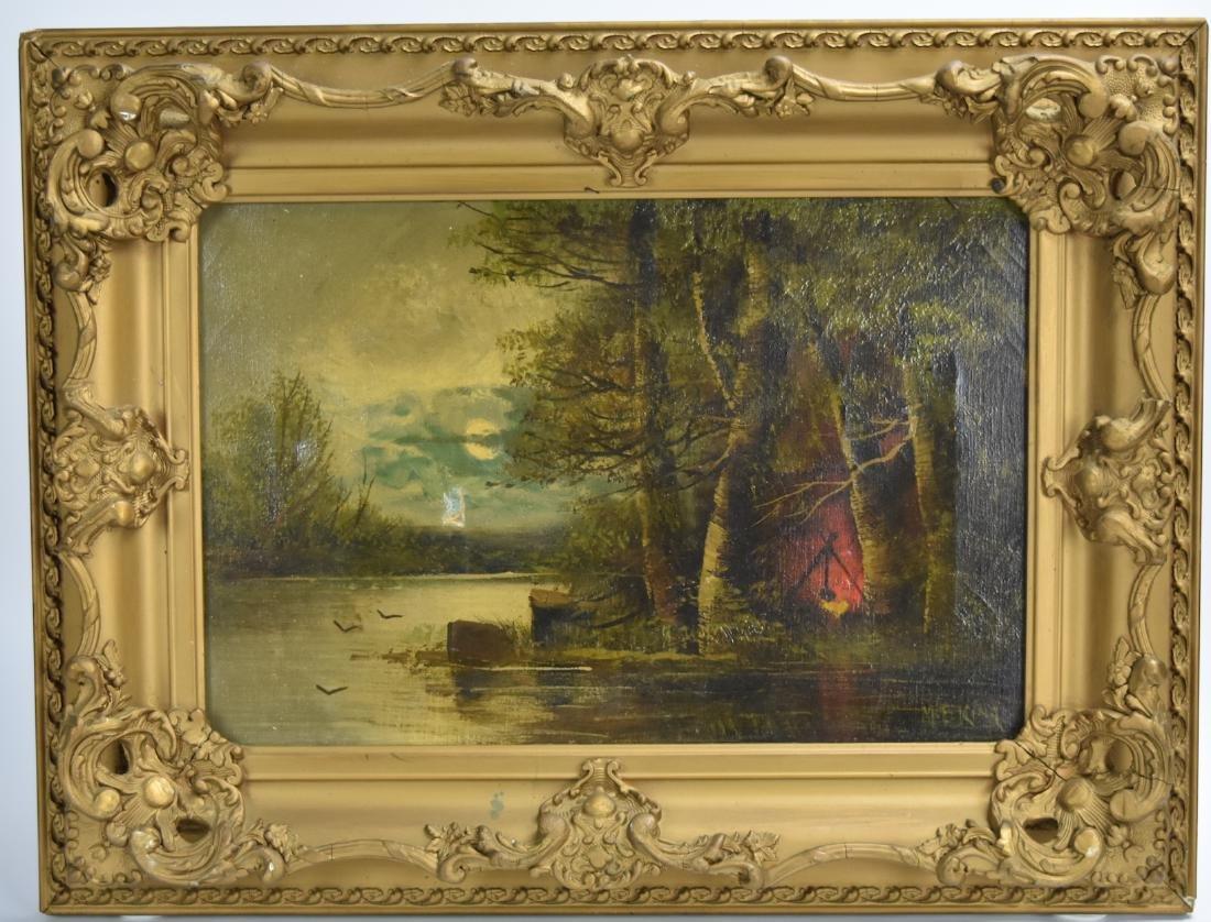 Gilt Framed Oil on Canvas, Mary Elizabeth King