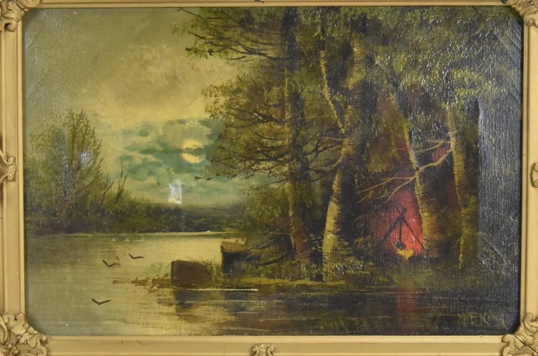 Gilt Framed Oil on Canvas, Mary Elizabeth King - 2