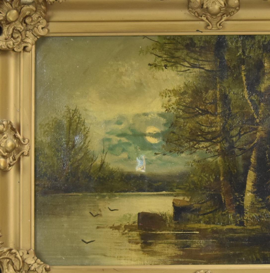Gilt Framed Oil on Canvas, Mary Elizabeth King - 3