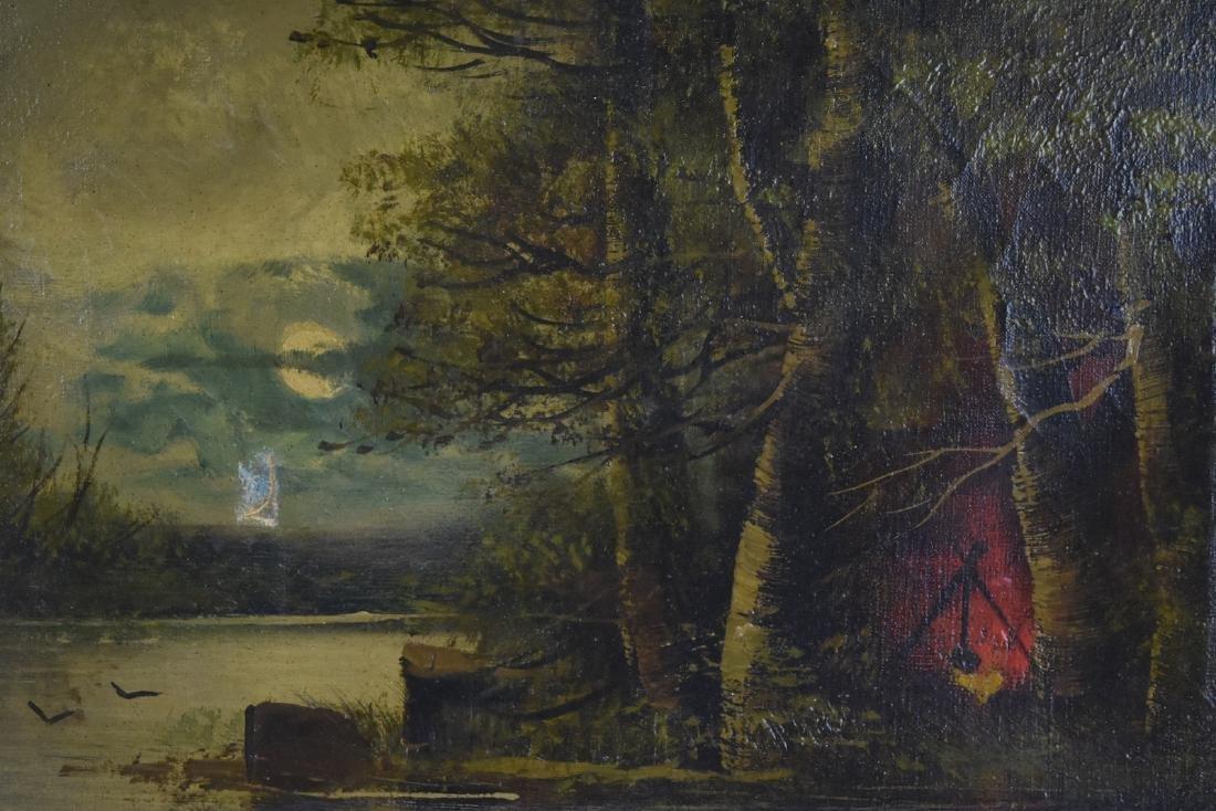 Gilt Framed Oil on Canvas, Mary Elizabeth King - 4
