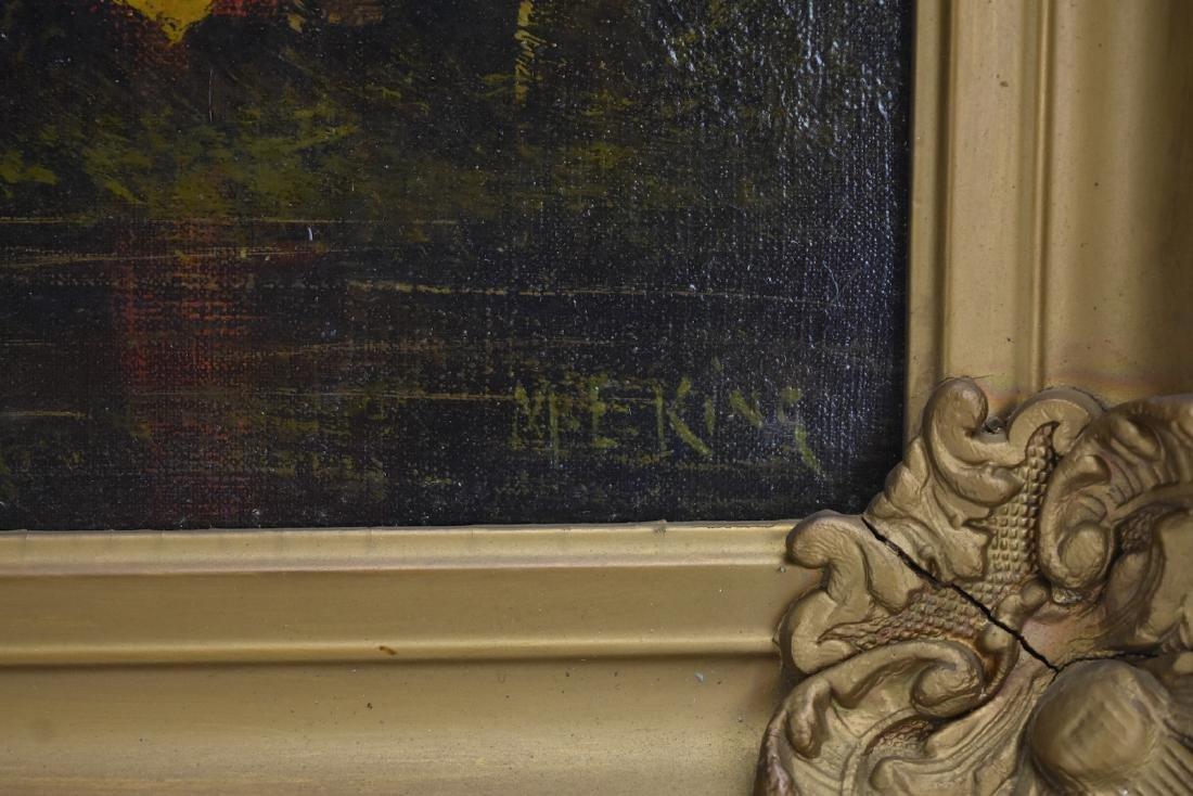 Gilt Framed Oil on Canvas, Mary Elizabeth King - 5