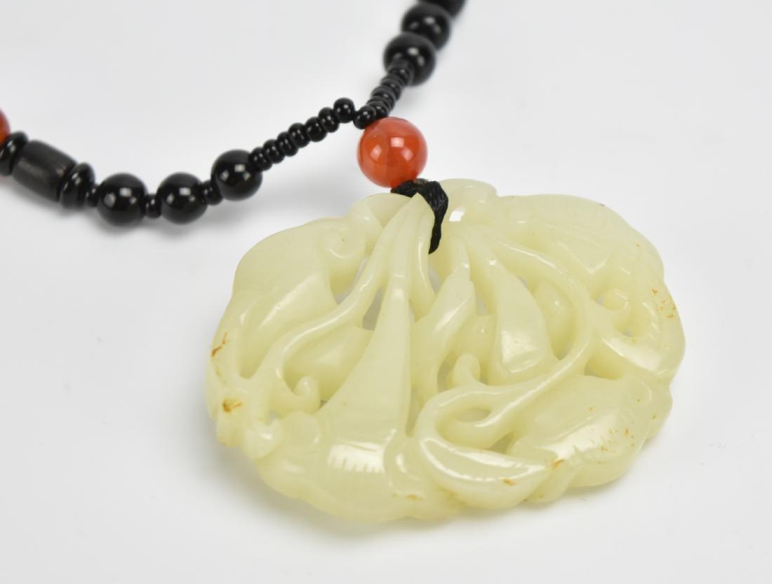 White Jade Pendant of Ruyi Heads,19-20th C. - 4
