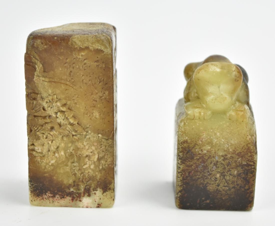 Two Piece of Chinese Soapstone Seal - 2